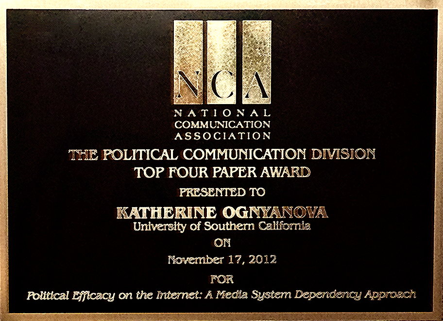 NCA 2012 Top Paper Political Communication Katherine Ognyanova
