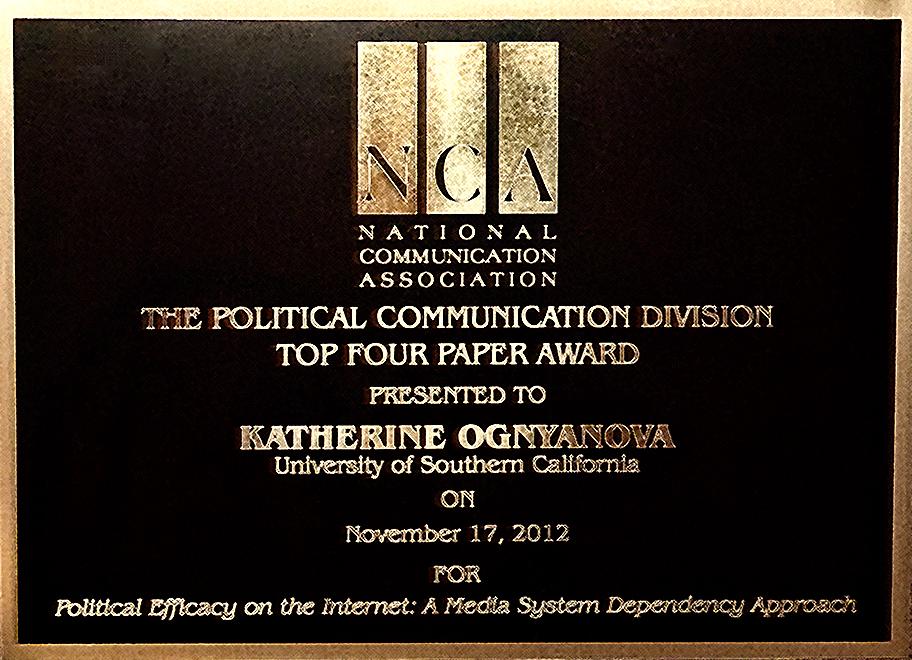 NCA 2012 Top Paper Political Communication Katherine Ognyanova