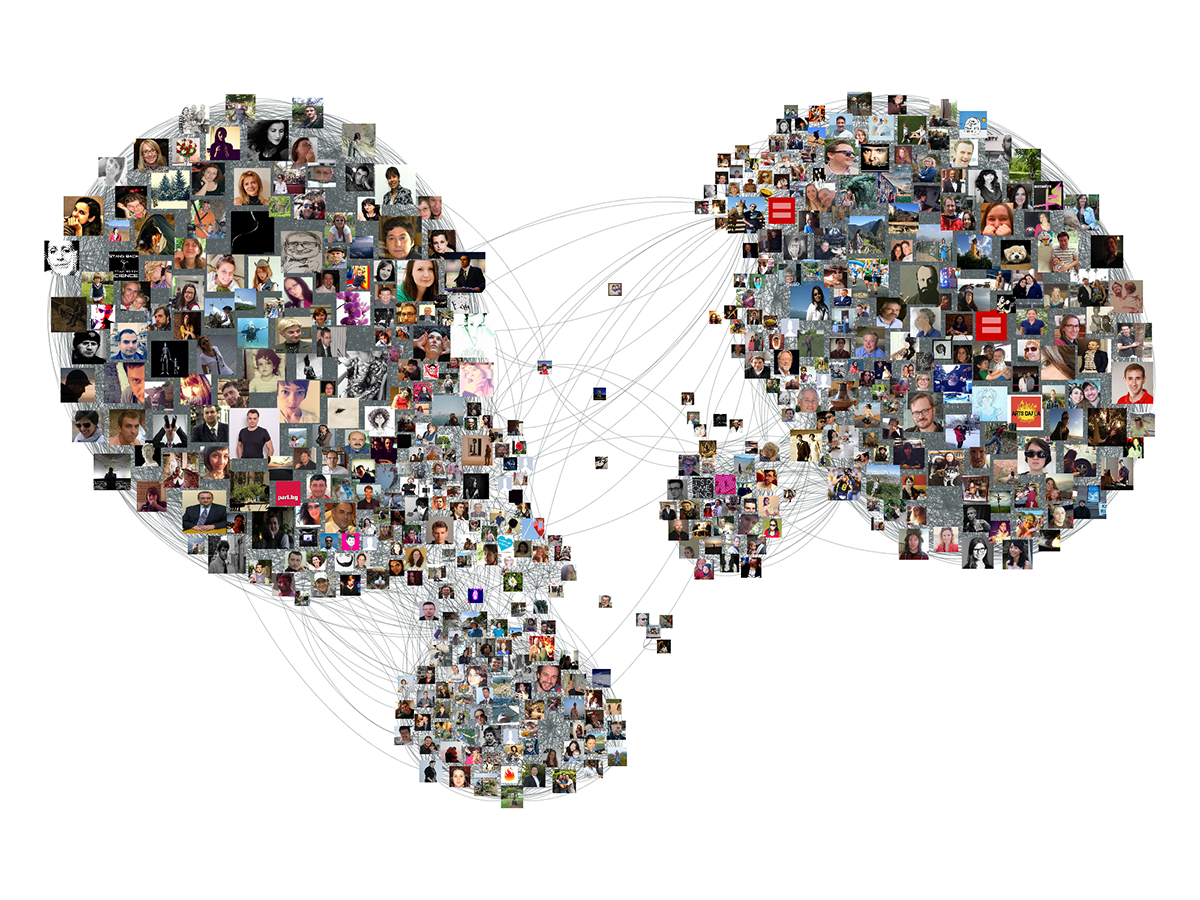 Facebook data collection and photo network visualization with Gephi