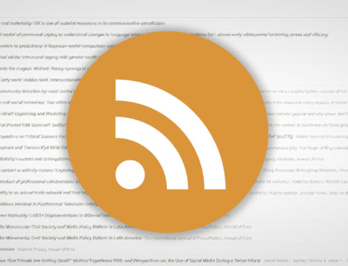 Academic Journals RSS feeds